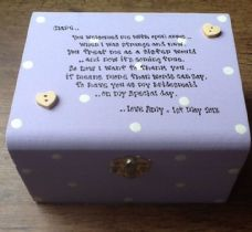 Shabby Personalised chic Bridesmaid Sister In Law Wedding Jewellery Box gift.
